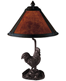 Dale Tiffany Rooster Mica Table Lamp