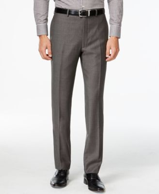 Charcoal Pindot 100% Wool Big and Tall Modern Fit Pants