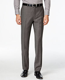 Calvin Klein Charcoal Pindot 100% Wool Big and Tall Modern Fit Pants