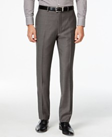 Calvin Klein Pants Charcoal Pindot 100% Wool Modern Fit