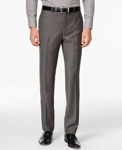 Calvin Klein Charcoal Pindot 100% Wool Big and Tall Modern Fit Pants