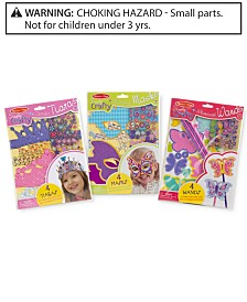Melissa and Doug Kids' Simply Crafty Tiaras, Masks & Wands Gift Set