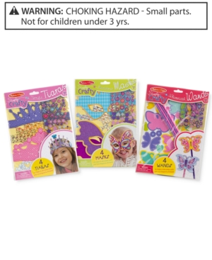 Melissa and Doug Kids Simply Crafty Tiaras Masks  Wands Gift Set