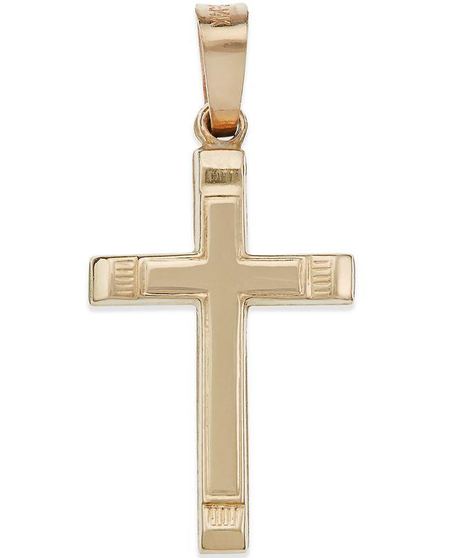 Macy's Small Cross Pendant in 14k Gold