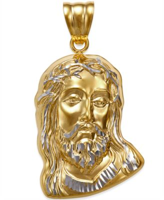 18 Chain Sterling Silver Head of Christ Pendant
