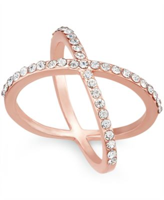 Image of INC International Concepts Criss Cross Rhinestone Rings, Only at Macy's