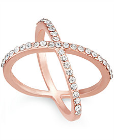 I.N.C. Criss Cross Rhinestone Rings, Created for Macy's