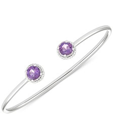 Amethyst Open Bangle Bracelet (2-3/8 ct. t.w.) in Sterling Silver