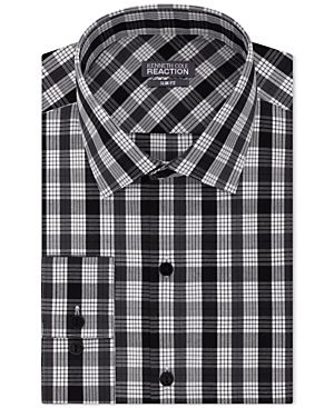 Kenneth Cole Reaction Slim-Fit Performance Night Check Dress Shirt