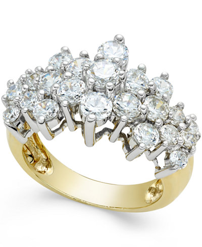 Pyramid Cluster Diamond Ring