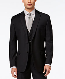 Calvin Klein Black Solid Big and Tall Modern Fit Jacket