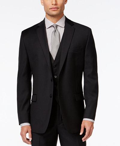 Calvin Klein Black Solid Modern Fit Jacket