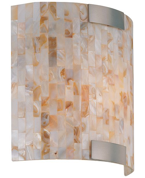 Lite Source Schale Shell Glass Mosaic Sconce