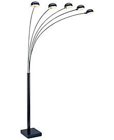 Lite Source 5 Multi-Lite Black Metal Arc Floor Lamp