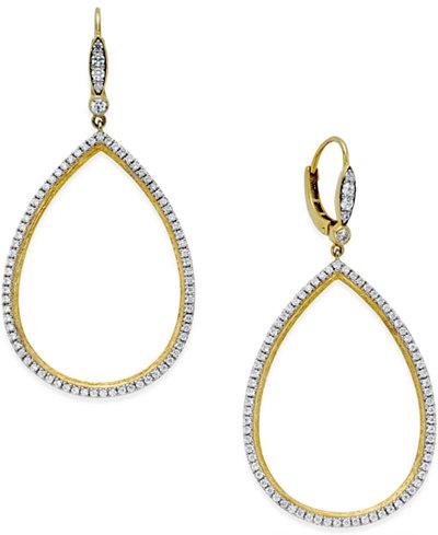 Diamond Openwork Drop Earrings (7/8 ct. t.w.) in 14k Gold