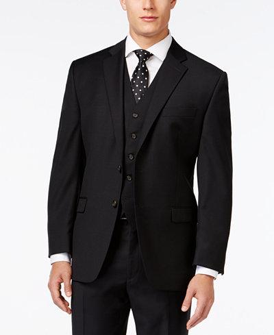 lauren ralph lauren black solid classic fit jacket suits. Black Bedroom Furniture Sets. Home Design Ideas