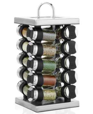 Lovely Martha Stewart Collection Square Stainless Steel Spice Rack, 21 Piece Set,  Created For