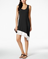 bb13bbe996 Calvin Klein Asymmetrical Tank Dress Cover Up,Created for Macy's Style