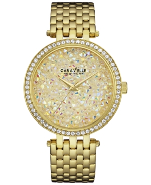 Caravelle New York by Bulova Women's Gold-Tone Stainless Steel Bracelet Watch 38mm 44L184