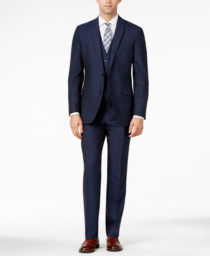 Bar III - Midnight Blue Slim-Fit Suit Separates