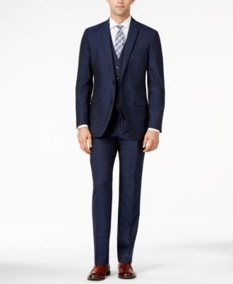 Bar III Midnight Blue Slim-Fit Suit Separates - Suits & Suit