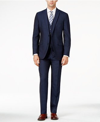 Bar III Midnight Blue Slim-Fit Suit Separates - Suits & Suit ...