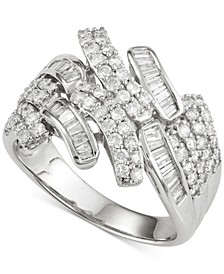Diamond Ring (1 ct. t.w.) in 14k White Gold, Created for Macy's
