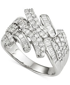 Wrapped in Love Diamond Ring (1 ct. t.w.) in 14k White Gold, Created for Macy's