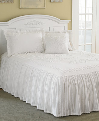 Mary Jane Chenille Tufted Bedspread Collection Bed In A