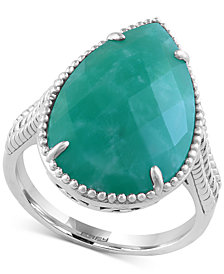 EFFY Amazonite Drama Ring (5-3/4 ct. t.w.) in Sterling Silver