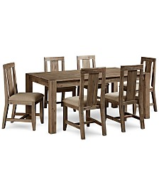"Canyon 7 Piece Dining Set, Created for Macy's,  (72"" Dining Table & 6 Side Chairs)"