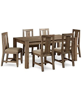 "canyon 7 piece dining set, created for macy's, (72"" dining table"