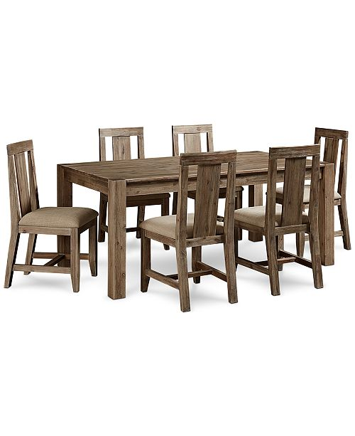 "Furniture Canyon 7 Piece Dining Set, Created for Macy's,  (72"" Dining Table & 6 Side Chairs)"