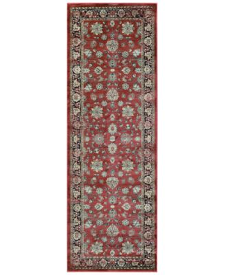 "CLOSEOUT! HARAZ HAR1443 Red 2'7"" x 7'10"" Runner Rug"