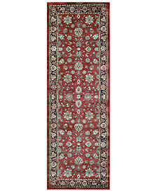 "CLOSEOUT! Couristan HARAZ HAR1443 Red 2'7"" x 7'10"" Runner Rug"
