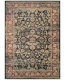 "CLOSEOUT! Couristan HARAZ HAR1143 Black/Red 5'3"" x 7'6"" Area Rug"