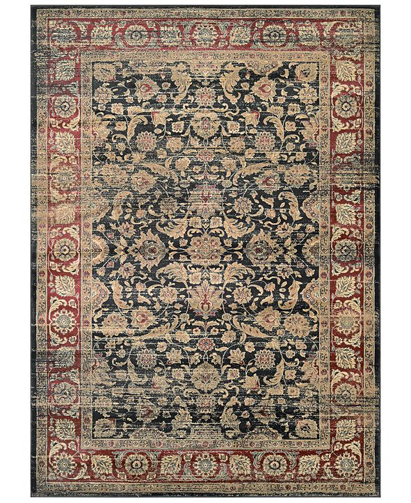 "Couristan CLOSEOUT! HARAZ HAR1143 Black/Red 2' x 3'7"" Area Rug"
