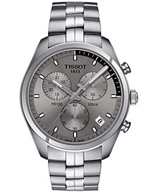 Tissot Men's Swiss Chronograph PR 100 Stainless Steel Bracelet Watch 41mm T1014171107100