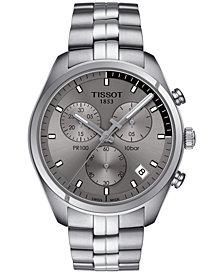 Tissot Men's Swiss Chronograph PR 100 Stainless Steel Bracelet Watch 41mm T1014171107100