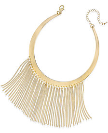 Thalia Sodi Gold-Tone Fringe Drama Collar Necklace, Created for Macy's