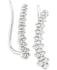 Wrapped in Love™ Diamond Ear Crawlers (1/4 ct. t.w.) in 14k White Gold, Created for Macy's