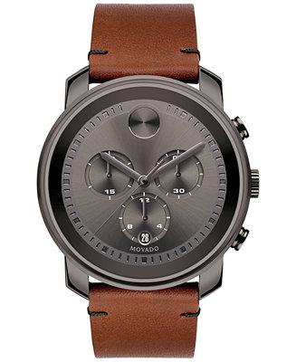 Movado Men's Swiss Chronograph Bold Rustic Brown