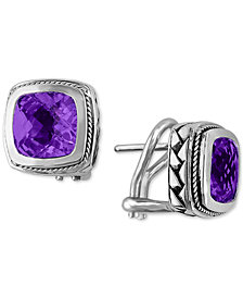 BALISSIMA by EFFY Amethyst Earrings (4-1/10 ct. t.w.) in 18k Gold and Sterling Silver