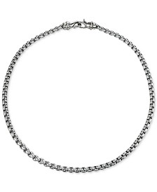 "Chain Necklace, 22"" in Stainless Steel"