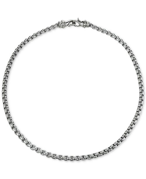 """Macy's Chain Necklace, 22"""" in Stainless Steel"""