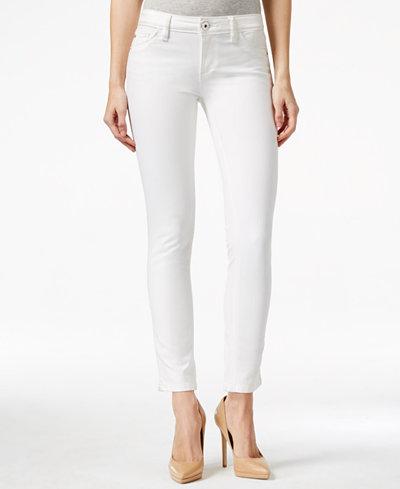 DL 1961 Angel White Wash Ankle Cigarette Jeans