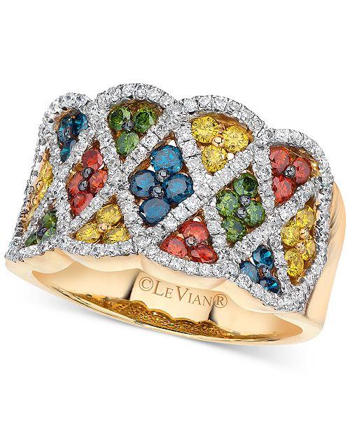 Le Vian Exotics® Multi-Colored Diamond Ring (1 3/8 ct. t.w.) in 14k Gold