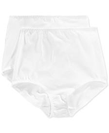 Bali Women's  Light Tummy-Control Cotton 2-Pack Brief Underwear X037