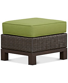 CLOSEOUT! Katalina Wicker Outdoor Ottoman, Created for Macy's