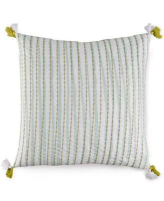 "Lara Texture Stripe 18"" Square Decorative Pillow"